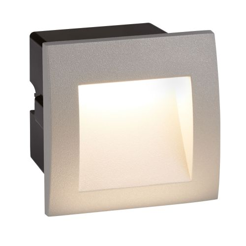 Ankle Led Indoor/Outdoor Recessed Square, Grey 0661Gy